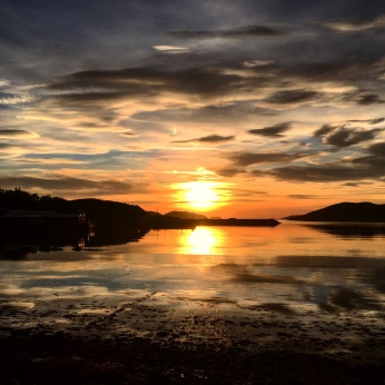 Sunset in Lochinver to the North